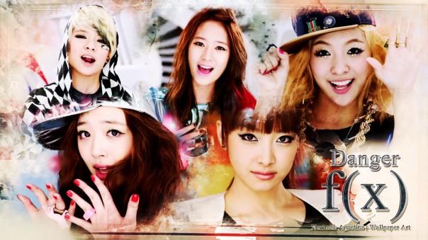 f(x) danger first album 2010 girl group korea victoria song park luna amber liu choi sulli krystal jung wallpaper