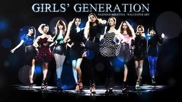 girls' generation ot9 simple light wallpaper taeyeon jessica yoona yuri seohyun hyoyeonn sooyoung tiffany sunny snsd so nyeo shi dae by nazimah agustina graphic abstract