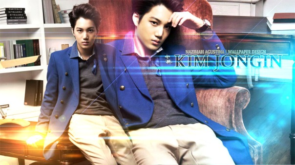 kim jong in exo kai balck sexy center of group korean sment dancing machine handsome visual wallpaper by nazimah
