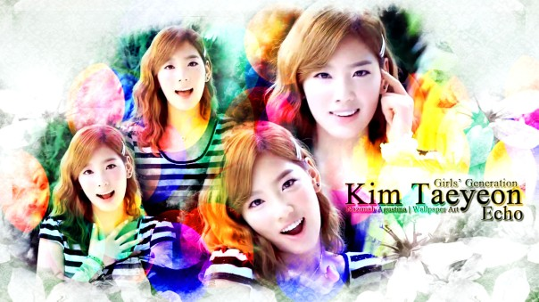 kim taeyeon snsd girls' generation echo music video wallpaper by nazimah agustina
