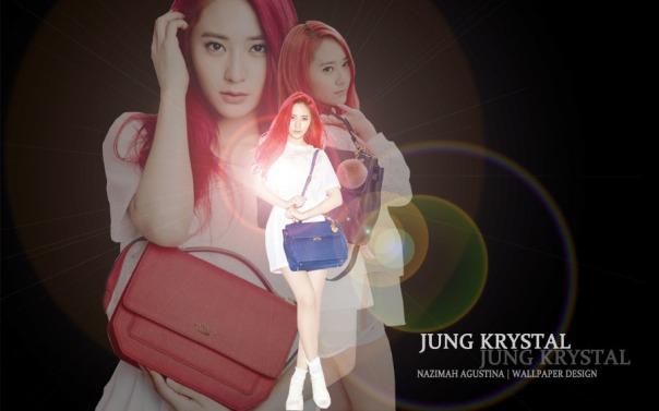 krystal jung wallpaper simple light fx red hair rum pum pum