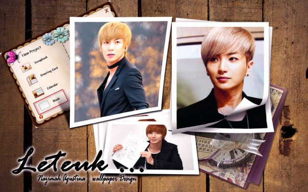 leeteuk for his birthday super junior scrapbook