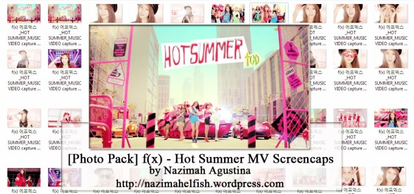 photo pack f(x) hot summer mv screencpas by nazimah agustina