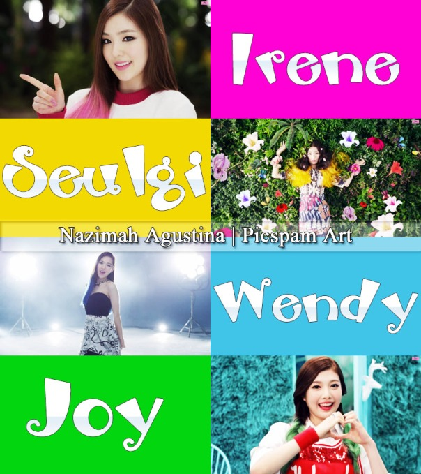 picspam red velvet happiness debut irene joy seulgi wendy by nazimah agustina art