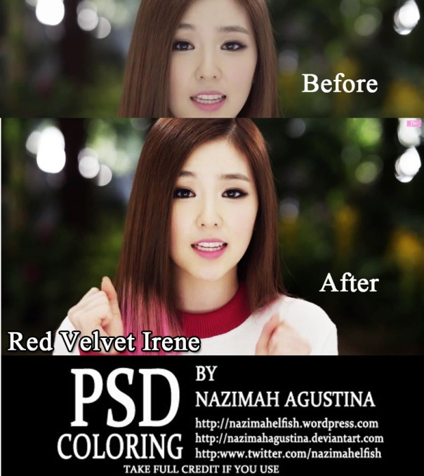 PSD Coloring Red Velvet Irene and Wendy for Happiness