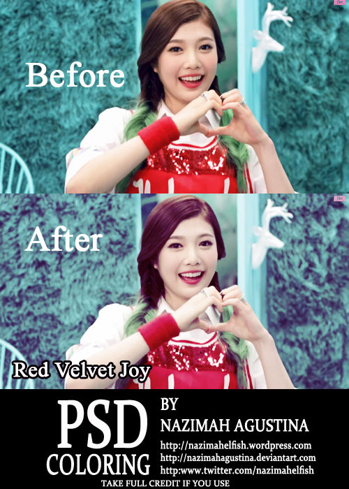 psd coloring Red Velvet Joy for Happiness by Nazimah Agustina