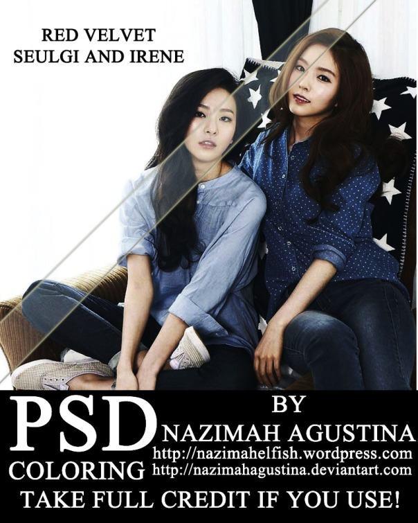 PSD coloring red velvet seulgi and irene curves levels by nazimah agustina