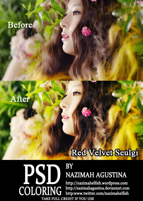 psd coloring Red Velvet Seulgi for Happiness by Nazimah Agustina