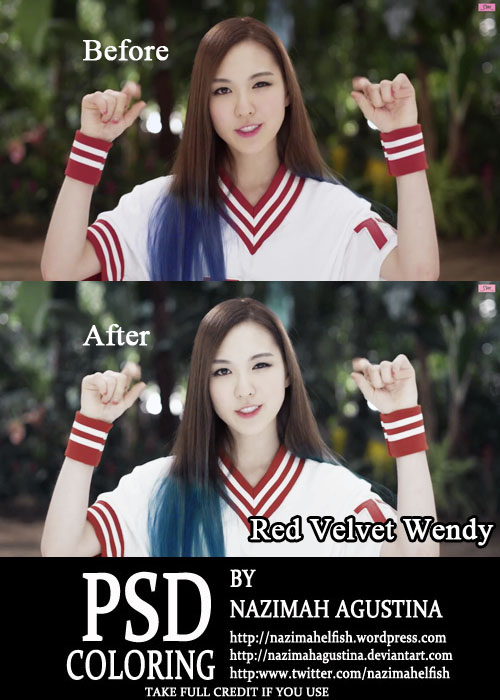 psd coloring Red Velvet Wendy for Happiness by Nazimah Agustina