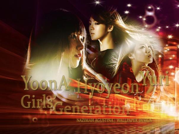 SNSD LEAD DANCE kim hyoyeon im yoona kwon yuri wallpaper abstract red