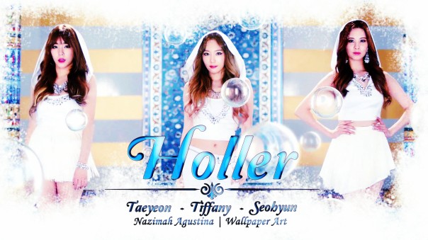 taetiseo hollersimple brush wallpaper kim taeyeon tiffany hwang seo joohyun snsd 2nd mini album
