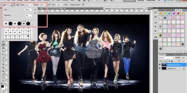 tutorial dan stock bagaimana cara membuat simple light wallpaper menggunakan photoshop snsd girls' generation taeyeon jessica tiffany sooyoung seohyun yoona hyoyeon yuri sunny korean 8
