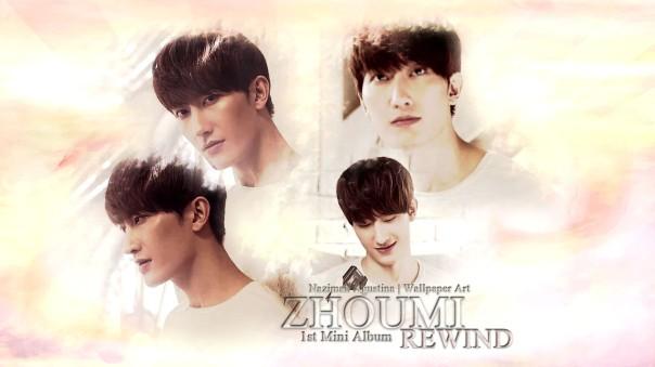 zhoumi rewind mv korea chinese wallpaper super junior-m first album solo