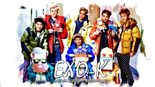 EXO-K kolon sport 2014 cf wallpaper by nazimah