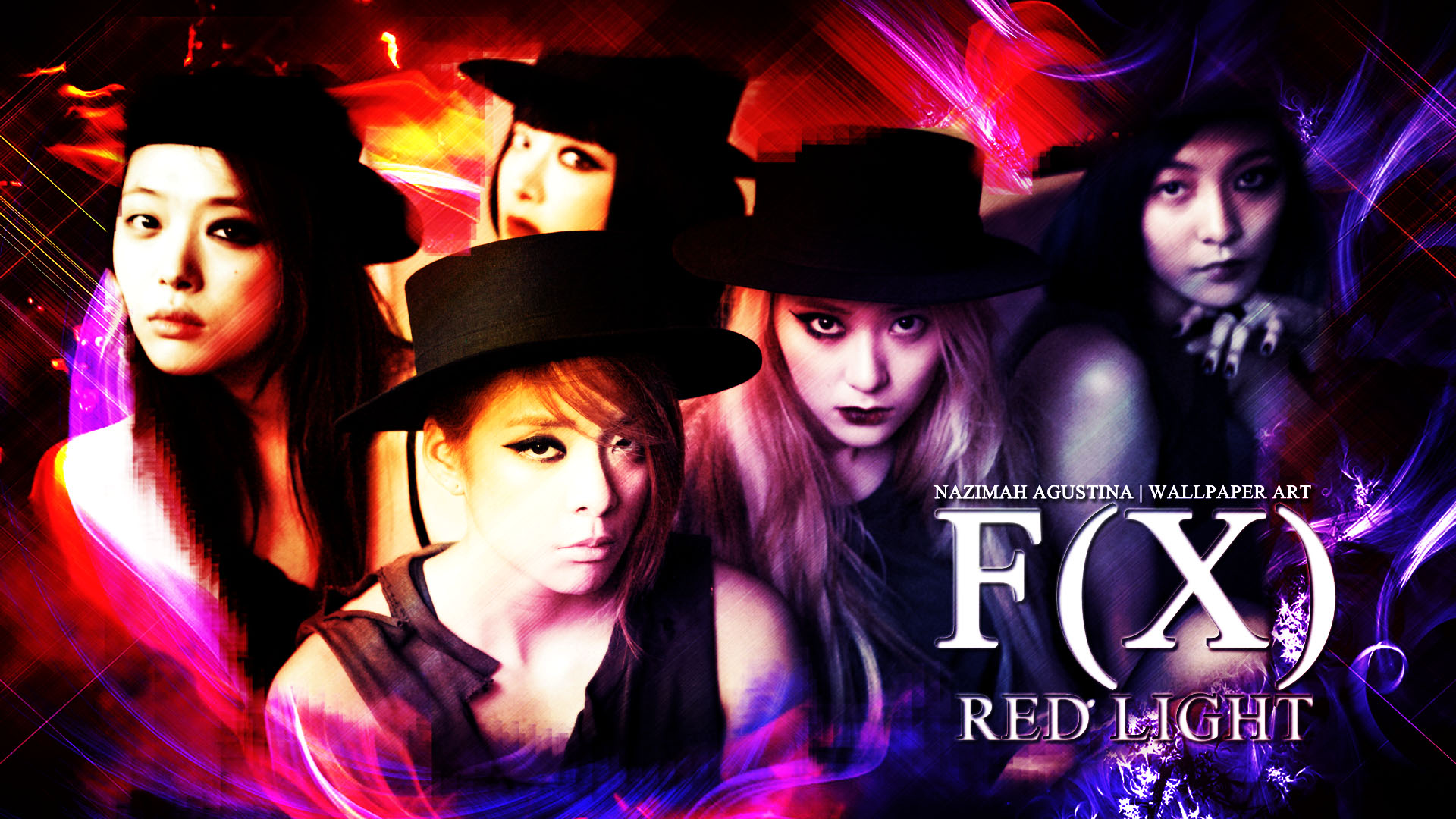 [Tutorial and Stock] How To Make Drama Romantic Wallpaper ... F(x) Luna Red Light Live