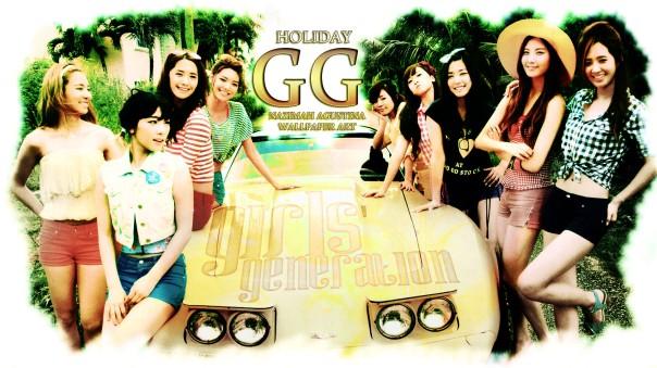 GG holiday WALLPAPER by nazimah agustina snsd japan