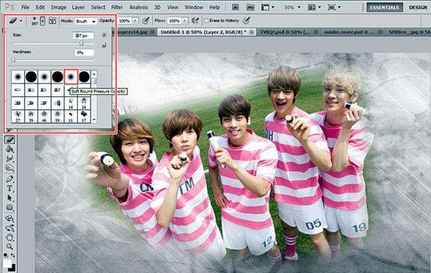 how to make nature abstract wallpaper using photoshop shinee onew jonghyun key minho taemin 6