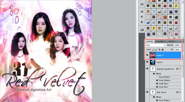 how to make soft color art using adobe photoshop red velvet irene seulgi wendy joy
