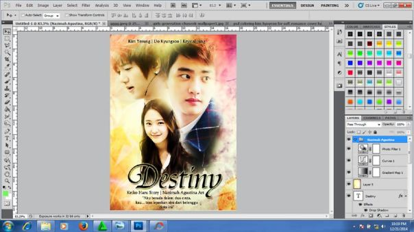how to make soft romance friendship cover poster fanfiction kpop f(x) krystal super junior yesung exo do kyungsoo  2