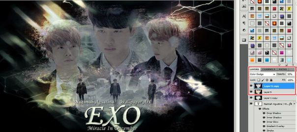 how to make soft sad ang light wallpaper using photoshop exo miracles in december baekhyun chen do kyungsoo