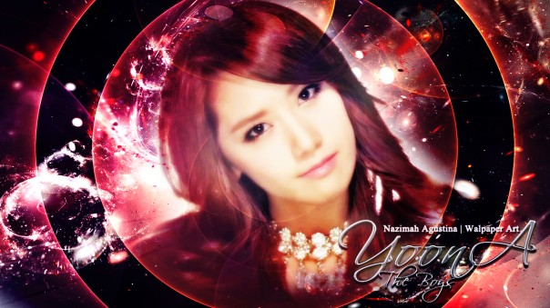 im yoona the boys comeback 2011 red wallpaper by nazimah agustina
