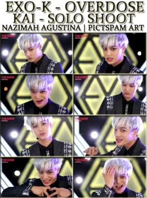 KAI solo shoot overdose pictsam art by nazimah agustina the show blonde 1