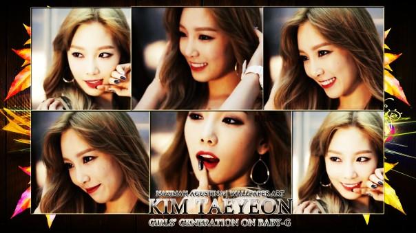 kim taeyeon snsd on baby-g 2014 new very beautifull goddess girls generation friend baekhyun exo