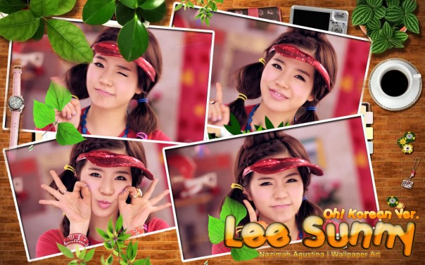 lee sunny soonkyu scrapbook oh korean version mv screencaps wallpaper by nazimah agustina