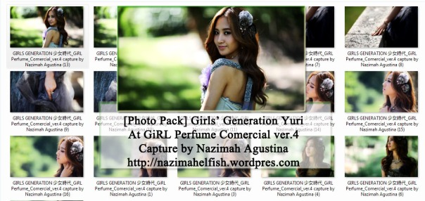 photo pack yuri snsd GIRLS GENERATION 少女時代_GiRL Perfume_Comercial_ver