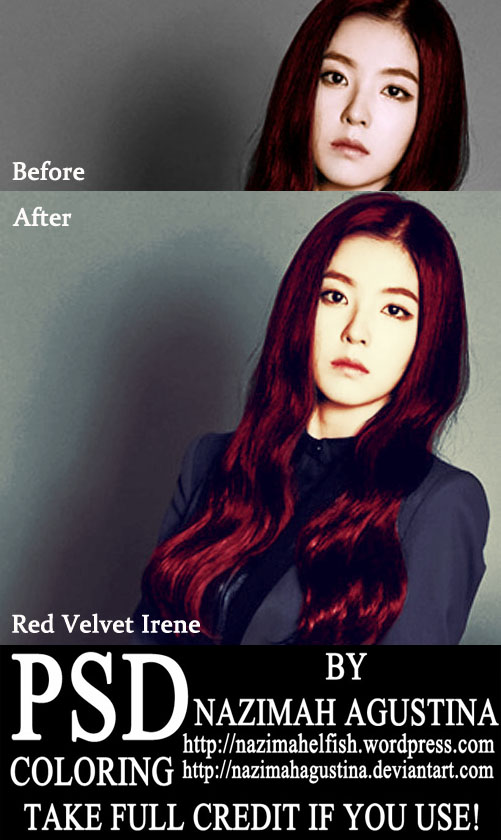 preview irene psd coloring red velvet by nazimah agustina