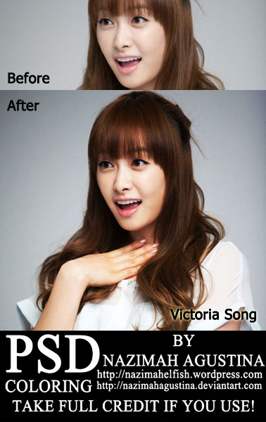 psd coloring f(x) victoria song qian soft color