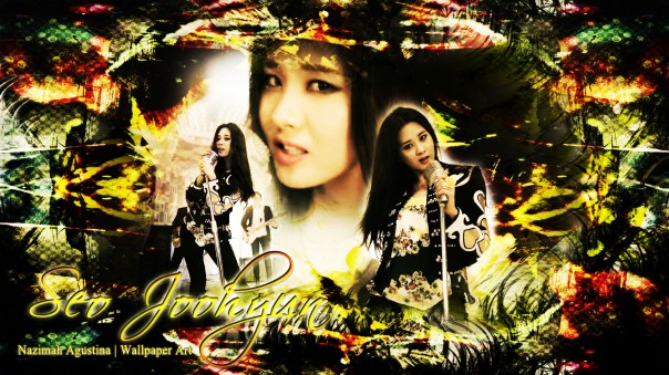 seohyun twinkle snsd tts lady rocker gold jazz wallpaper by nazimah agustina