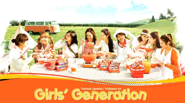 snsd holiday orange wallpaper girls' generation by nazimah agustina