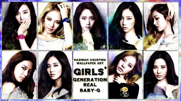 snsd real baby-g wallpaper pictspam girls' generation light taeyeon seohyun sunny yuri yoona jessica sooyoung tiffany hyoyeon by nazimah agustina