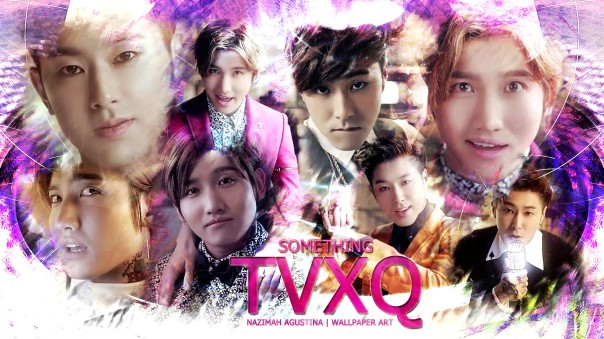 SOMETHING tvxq wallpaper changmin max u-know yunho purple by nazimah agustina