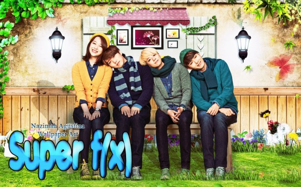 super junior sungmin ryeowook with f(x) sulli amber spao nature wallpaper by nazimah agustina
