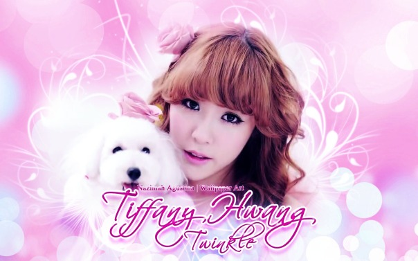 tiffany hwang for twinkle taetiseo tts snsd wallpaper pink 2014 by nazimah
