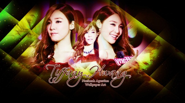 tiffany snsd new wallpaper on stage red