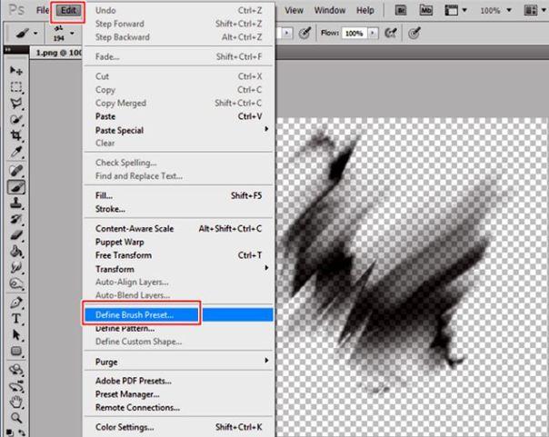 tutorial bagaimana cara merubah png menjadi brush pada photoshop 3