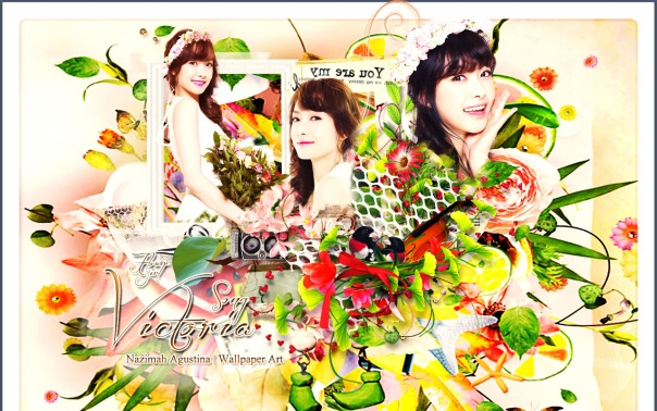 victoria song f(x) flower girl beautywallpaper by nazimah agustina