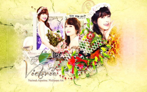 victoria song f(x) flower girl wallpaper by nazimah agustina