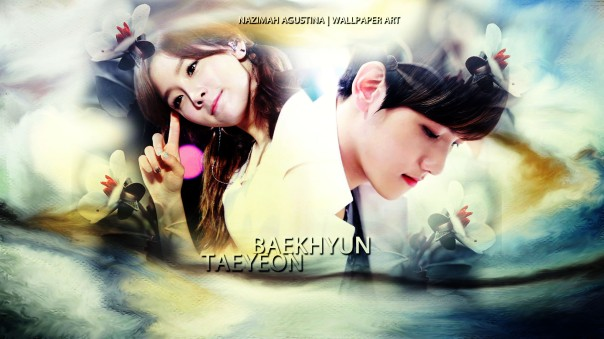 baekyeon couple kim taeyeon byun baekhyun cool sweet flower twins wallpaper snsd exo exoshidae by nazimah agustina