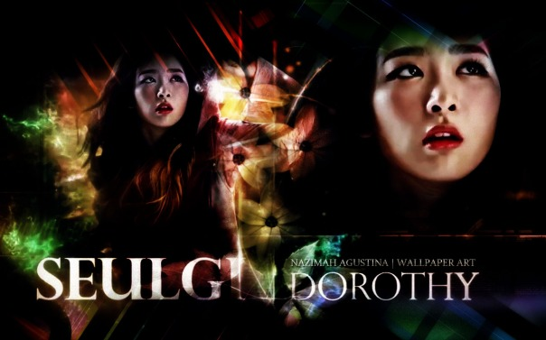 dorothy seulgi red velvet school oz hologram musical wallpaper by nazimah agustina