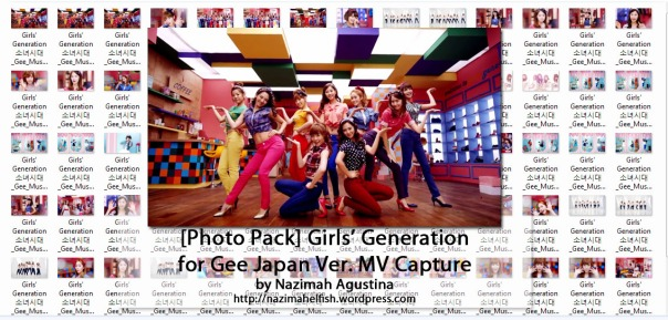 download photo pack snsd girls generation gee japanese ver mv capture screencaps preview ot9 by nazimah agustina