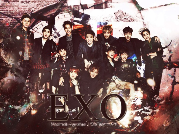 EXO abstract soft wallpaper ot12 by nazimah agusina