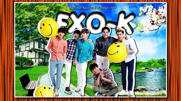 exo-k cute scrapbook nature wallpaper kim jongin kim junmyeon byun baekhyun oh sehun park chanyeol do kyungsoo by nazimah agustina