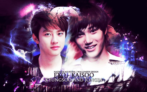 exo kaisoo kai do kaido jongin kyungsoo wallpaper abstract light by nazimah agustina