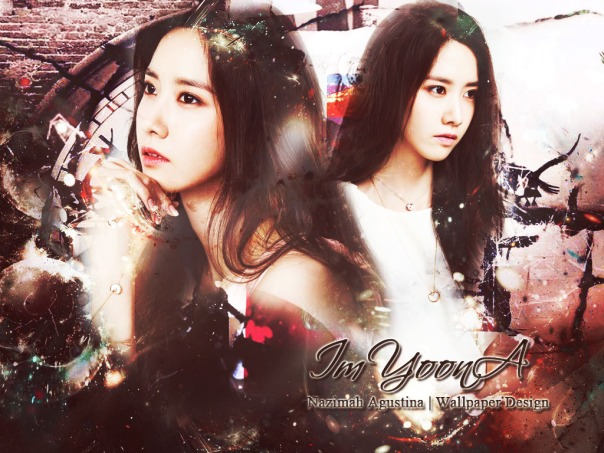 im yoona soft abstract wallpaper by nazimah agustina