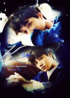 kai season greeting cover art 2015 sleepy face exo kim jongin blue by nazimah agustina
