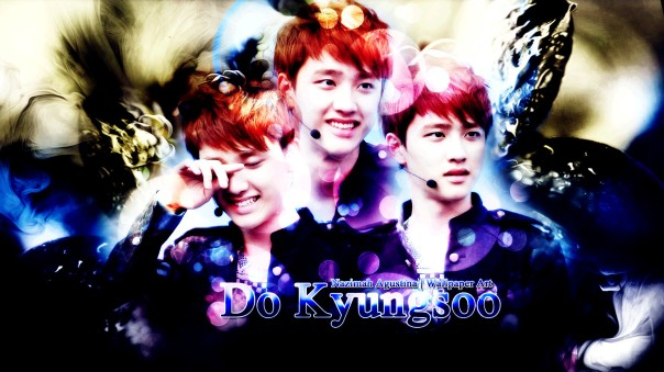 kyungsoo do exo wallpaper brithday blue soft drama graphic by nazimah agustina